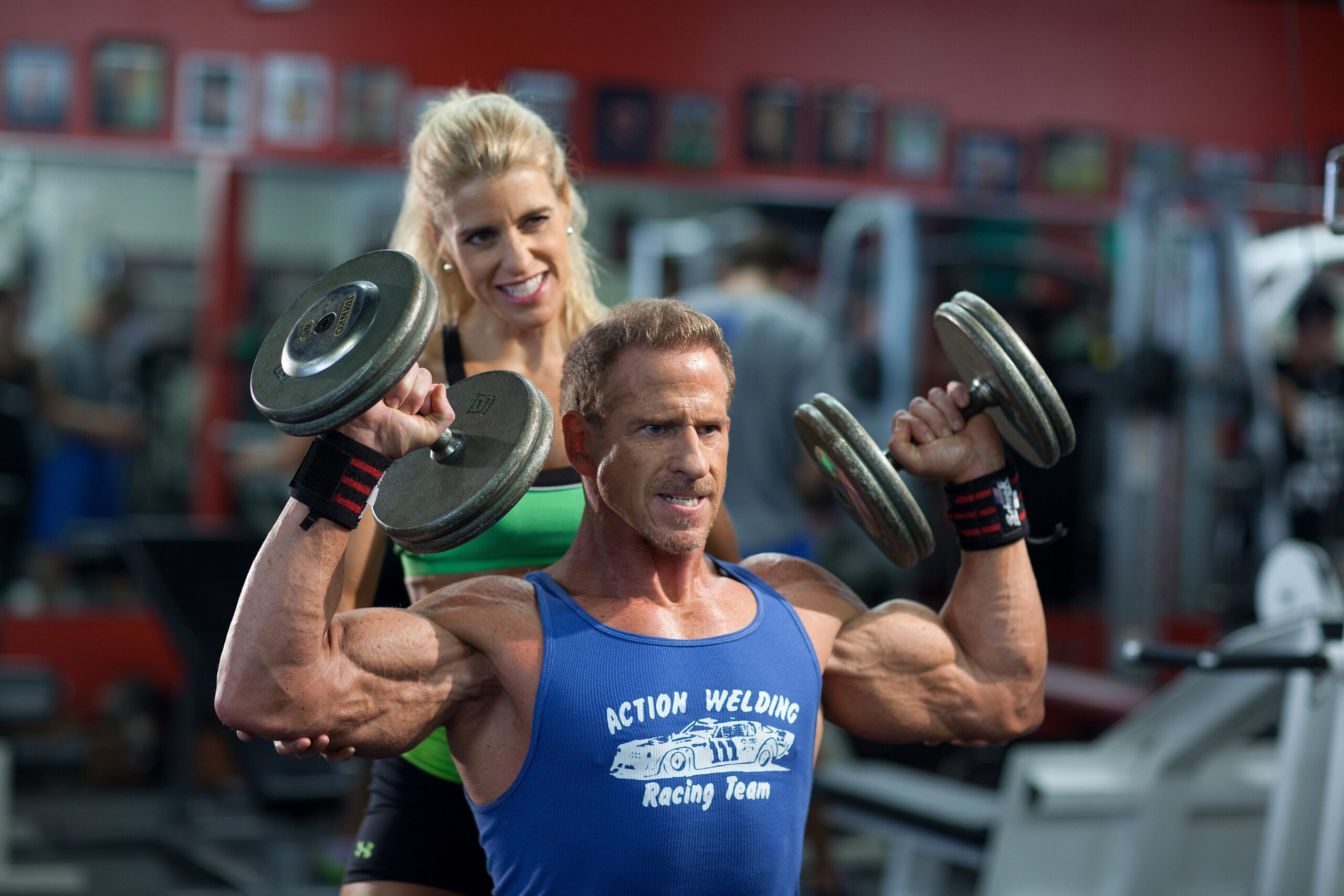 Muscle: Professional bodybuilder Tom Terwilliger and his wife, Dawn Terwilliger