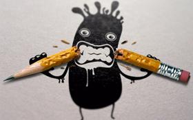 angry guy broken pencil sm